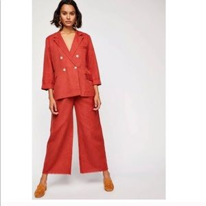 Free People Linen Winnie Suit
